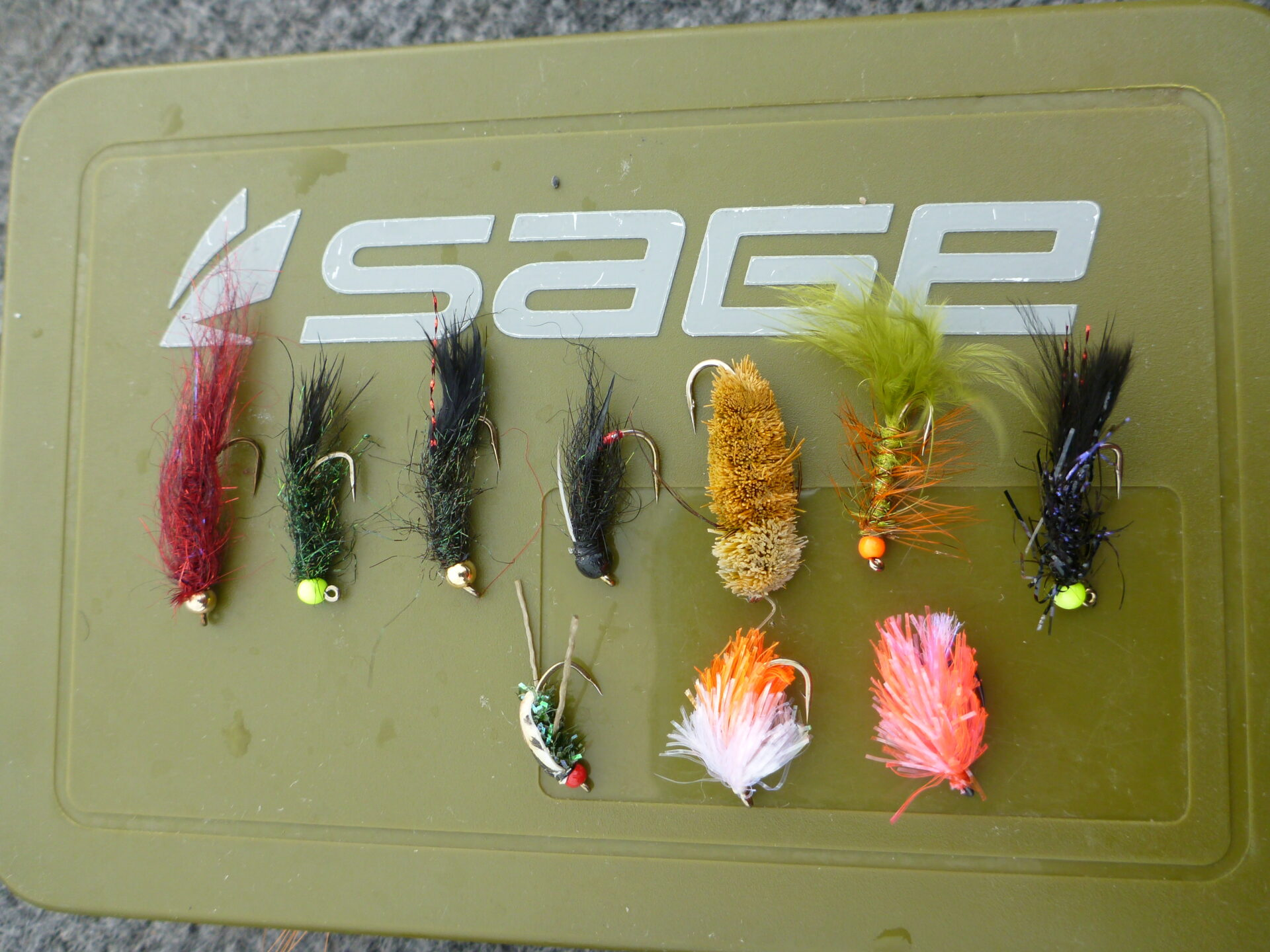 A selection of summertime fly patterns.