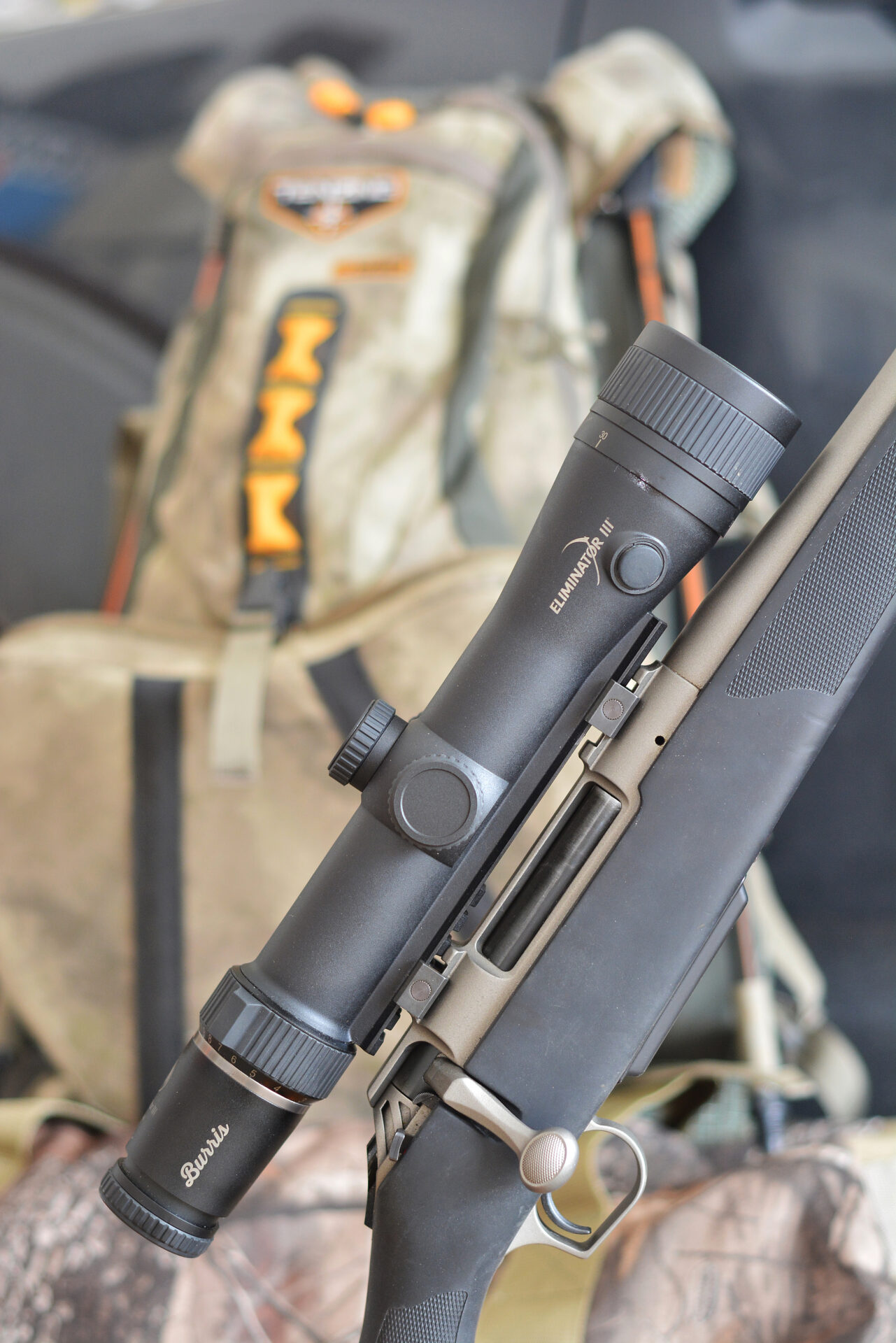 Laser rangefinders have been integrated into riflescopes for several years. The Burris Eliminator is in its fourth generation.